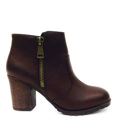 Look at this Bamboo Brown Rattle Bootie on #zulily today!