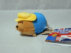 Paddington Bear Bean bag style Plush (Yellow Hat) Japan #Saneiboeki