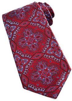 $225, Red Paisley Silk Tie: Stefano Ricci Woven Paisley Silk Tie Red. Sold by Neiman Marcus. Click for more info: https://lookastic.com/men/shop_items/35045/redirect
