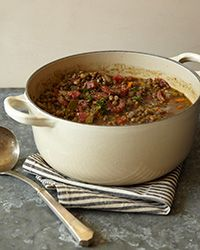 This hearty soup, with its lentils and sausage, seems made for savory. For a special version, use imported Vertes du Puy lentils, which have a rich, earthy flavor. A firm whole-grain bread would be ideal alongside.  Plus: Great Soup Recipes