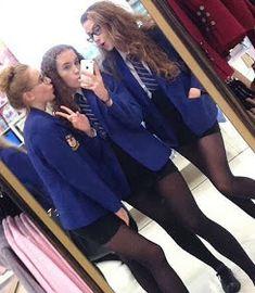 Tight Skirts Page: Uniform Tight Skirts 13 School Uniform Outfits, Cute School Uniforms, Girls Uniforms, Catholic School Uniforms, British School Uniform, Private School Girl, Outfits For Teens, Girl Outfits, School Girl Dress