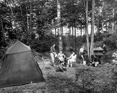 we camped there! Anvil Lake Earthquake. Forgot to put down the jacks and tipped the camper. Little daylight in the dense forest but the fishing was awesome! - Family enjoys camp at Anvil Lake., via Flickr.