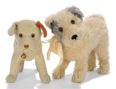 TWO VINTAGE STEIFF STANDING DOGS