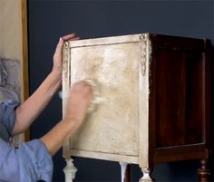 Learn how Chalk Paint™ decorative paint can help create beautiful hand painted furniture pieces with an elegant Old World look. Tutorial link.