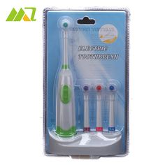 Oral Hygiene Dental Care Battery Operated Electric Toothbrush with 4 Brush Heads No Rechargeable Revolving Tooth Brush