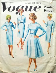 Vogue 3000 sewing pattern - from 1959
