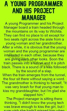 A Young Programmer And His Project Manager (Funny Story) Funny Marriage Jokes, Funny Jokes, Funny Stories, Going Crazy, Project Management, Funny Pictures, Trends, Humor, Projects