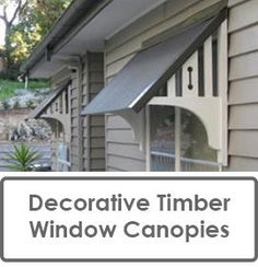 Build a decorative timber awning | House front, Front doors and Kayaks