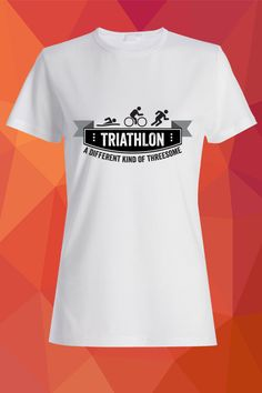 Triathlon – a different kind of threesome T-Shirt  https://www.spreadshirt.com/triathlon-a-different-kind-of-threesome-A103811330
