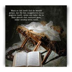 Bijbeltekst want alzo lief had God de wereld kerstkaart