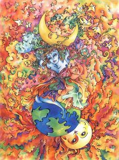 moon and sun art - Google Search