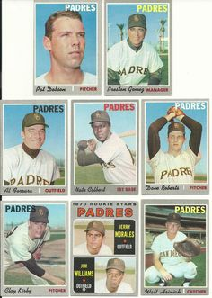 1970 Vintage Topps PADRES 22 cards partial team set lot RC Colbert Roberts Kirby #SanDiegoPadres