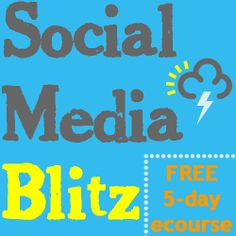 If you are ready to learn how to decrease the amount of time you spend promoting your Etsy items and at the same time maximize your results, the Social Media Blitz 5-day ecourse is just for you!
