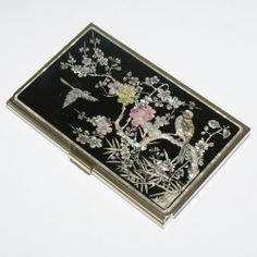 Nacre Najeon Chilgi Mother Of Pearl Business Card Holder Credit Id Card Case An…