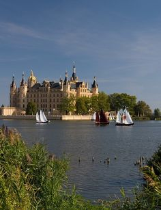 The home of the dukes of Mecklenburg, Schwerin Castle, Germany (by hardyuno).
