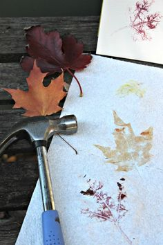 Create beautiful leaf prints -- kids LOVE this project!