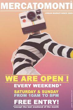 We are open! Oggi, Sabato 21 e Domenica 22. MercatoMonti is your one of a kind shopping experience in Rome!