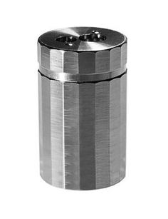 Dux Aluminum Pencil Sharpener - One hole for standard pencils, and a larger hole to accommodate most other shapes and sizes. Drilled from a solid aluminum-block body. Designed and produced in Germany. (more info) $44.00