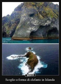 Top photo is Elephant Rock which is located off the coast of Iceland. The other is in Hawaii also named Elephant Rock. Wonderful Places, Beautiful Places, Places To Travel, Places To Go, Oeuvre D'art, Amazing Nature, Beautiful World, Nature Photography, Scenery