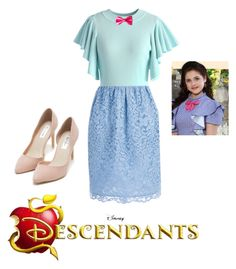 """descendants"" by maria-look on Polyvore featuring Chicwish, Shoshanna, Disney and Nly Shoes"