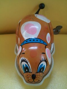 Vintage Tin Dog wind up toy