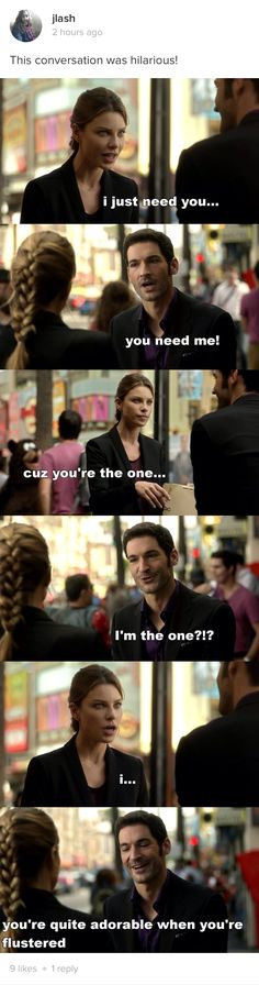 Loved this. They are so cute, i feel so bad that lucifer feels like she's just another manipulation