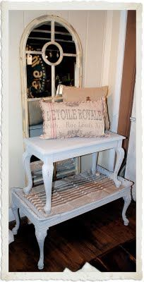 Painted furniture w/ chalk paint