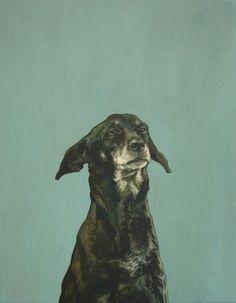 "Saatchi Online Artist: Iet Langeveld; Acrylic, 2011, Painting ""Doggy, 90x70cm"""