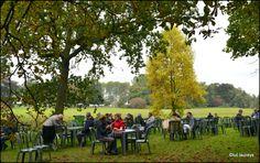 Gezellig terras voor wie van pannenkoeken houdt. Terras An der Blauen Donau (pannenkoekenterras) Dit terras, gelegen aan de overkant van de villa, biedt u vers gebakken pannenkoeken aan. Hebt u zin in iets hartig, een croque monsieur is hier ook verkrijgbaar. Uiteraard zijn koffie en frisdranken ook verkrijgbaar.
