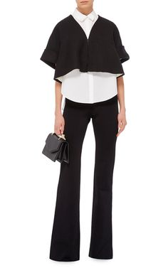 Cropped Flared Jacket by DELPOZO Now Available on Moda Operandi