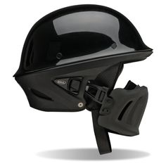 Bell Rogue Motorcycle  Helmet - Purpose built to guard against the elements, the new Rogue has the look of a half helmet with the comfort of a 3/4. Featuring an adjustable and removable muzzle, the Rogue offers an innovative solution for exceptional rider comfort. Add in a lightweight composite shell and ultra-comfortable interior, and you've got the perfect weapon for a day on the road.