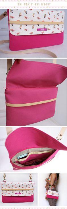 Pochette Diy, Diy Sac, Diy Clutch, Craft Bags, Couture Sewing, Fabric Bags, Cotton Bag, Handmade Bags, Diy Clothes