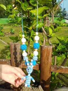 Sling necklace sling beads teething beads por OmGanchillo en Etsy