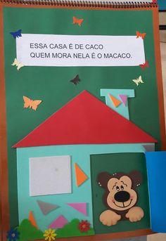 """Atividades Escolares: Livro gigante """"A casa e seu dono"""" Elias José Quiet Book Templates, Education, Christmas Ornaments, Logos, Holiday Decor, Diy, Tall Tales Activities, Literacy Activities, Kids Smart"""