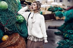 Location: Fishnet, Iceland   outfit style: chic, edgy, warm, cozy, sexy   fashion editorial shooting