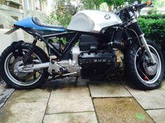 BMW K100 , Vintage eye catcher , silver tank cafe racer   eBay