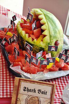 a swashbuckling Pirate Bash- Watermelon Shark Feature.