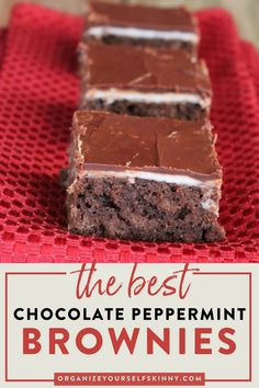 Homemade Healthy Chocolate Peppermint Layered Brownies For Clean Eating Healthy Desserts For Kids, Easy No Bake Desserts, Desserts To Make, Healthy Dessert Recipes, Healthy Baking, Healthy Snacks, Healthy Chocolate, Chocolate Recipes, Eating Healthy