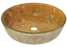 Seashells Sand Glass Vessel Sink