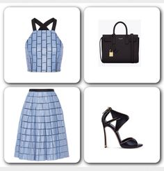 The Perfect Midi Skirt: Midi Skirts are in trend this Summer and Spring and needless to say Crop Tops have been part of every It Girl's closet. Tibi is one of the designers that gave us a perfect splash of color this season, along with a perfect selection of Midi Skirts and Crop Tops.