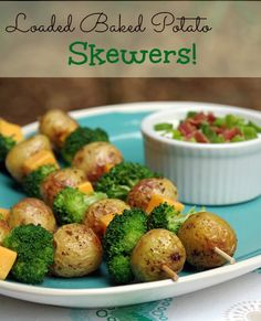 Love a good loaded baked potato? They are even more tasty on a skewer! #TopTater #CleverGirls #sponsored