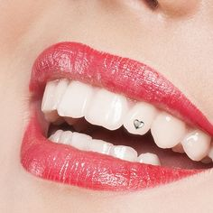 Twinkles Small Heart white gold. #tooth #jewel #dentist