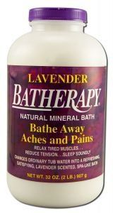 Batherapy Natural Mineral Bath - Lavender, 2 lbs ( Multi-Pack) by QUEEN HELENE. $26.00. Lavender Batherapy Natural Mineral Bath. The aroma of Lavender has a long history as a relaxant that dates back to the Roman Empire. We have combined this Lavender fragrance with our exclusive Batherapy Salts, to create this unique new Laven....... Quantity: MULTI VALUE PACK! You are buying Description: BATHERAPY SALTS LAVENDER Unit Size: 2 LB Brand: QUEEN HELENE. TRIPLE VALUE PACK! Yo...