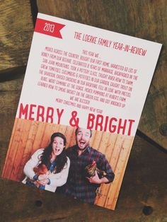 Greatest Christmas Card Ever! @Today's Letters and her Timothy James are the cutest.