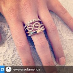 #Repost @jewelersofamerica  Sweet and elegant ring by @levian_jewelry #rosegold #strawberry #gold #knot #infinity #diamond #delicate #lace #sweet #nails #instajewels #jewelry