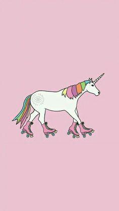 unicorn on rollerskates Wallpaper Tumblr Lockscreen, Trendy Wallpaper, Screen Wallpaper, Cute Wallpapers, Iphone Wallpaper, Cool Iphone Cases, Diy Phone Case, Photo Backgrounds, Wallpaper Backgrounds