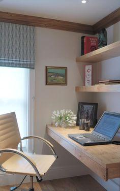 shelves/desk of solid wood.