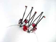 Off With Her Head  Queen of Hearts Mini Crown by angelyques, $55.00