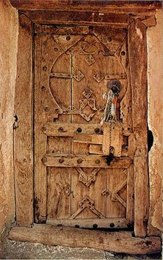 Doors always have stories to tell or stories to keep silent. Doors get old, as we do. This one reminds me of ancient times where present and past meet between the cracks, the rust and the colours that fade away. Cool Doors, Unique Doors, The Doors, Entrance Doors, Doorway, Windows And Doors, Front Doors, When One Door Closes, Templer