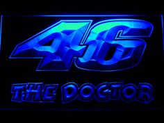 Valentino Rossi 46 The Doctor LED Neon Sign Home by LEDengraver